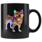 Dog Christmas Tree Cute Akita Lights Funny Mugs