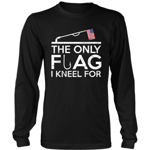 The Only Flag I Kneel For Ice Fishing T-Shirt