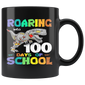 Dinosaur T-Rex Roaring Into 100 Days Of School Mugs