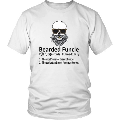 Bearded Funcle Shirt Funny Uncle Definition T-Shirt
