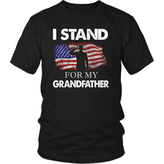 I Stand For My Grandfather Veteran American Flag Shirts