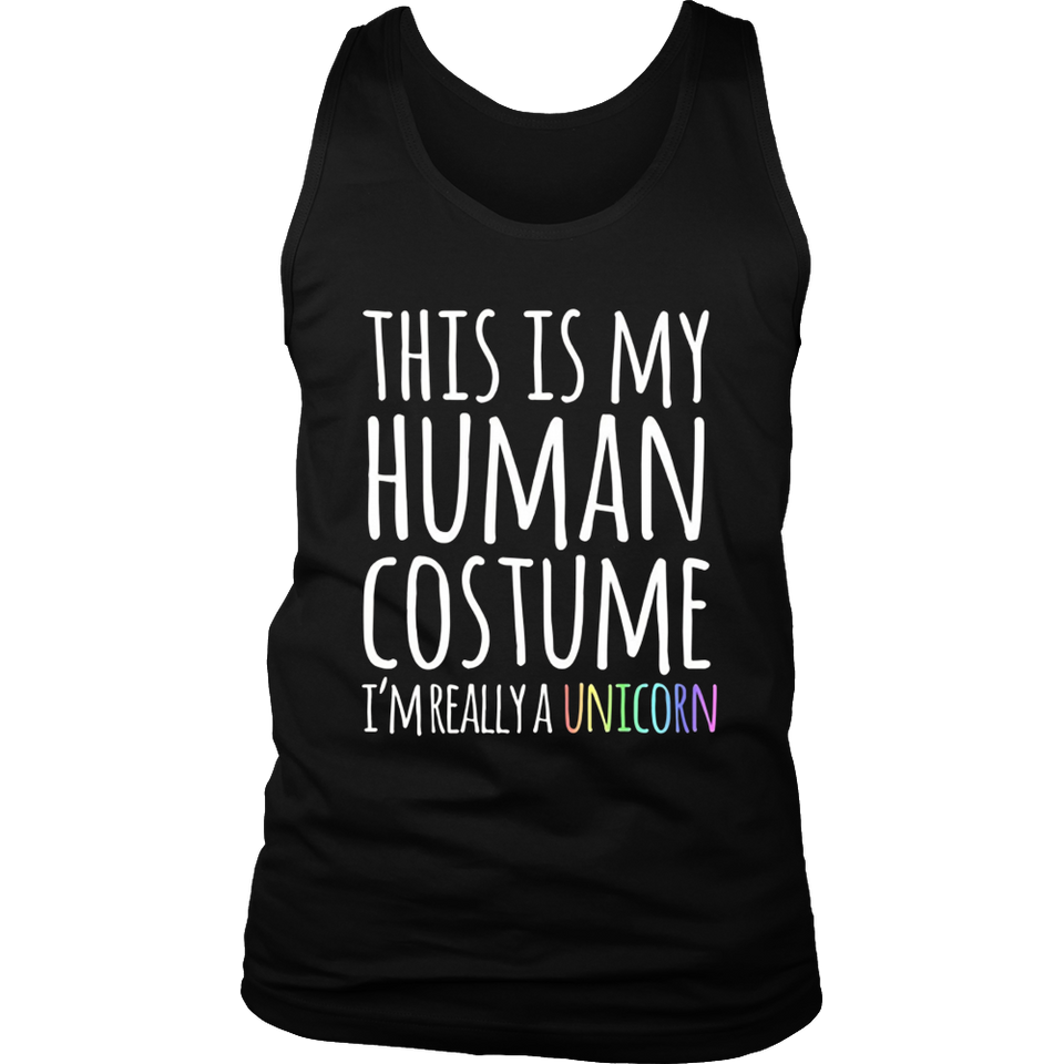 This Is My Human Costume I'm Really a Unicorn Funny T-Shirt