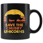 Save The Chubby Unicorns Mugs Vintage Retro Colors Mugs