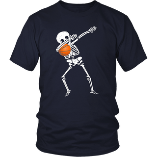 Halloween Dabbing Skeleton Basketball TShirt Funny Dab Dance