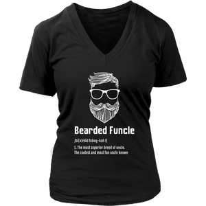 Mens Bearded Funcle Definition Funny Bearded Uncle T-Shirt