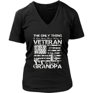 I Love More Than Being A Veteran Is Being A Grandpa Shirt