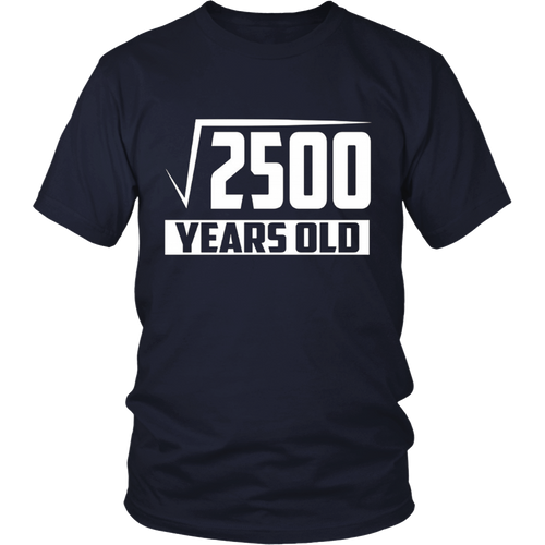 50 Years Old Square Root - Funny 50th Birthday Gift T-Shirt