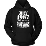 Awesome July 1987 - 30th Birthday Gifts Funny Tshirt