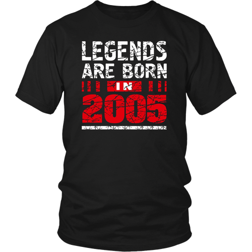 Legends Are Born in 2005 T-Shirt 12th Birthday Teenager Gift