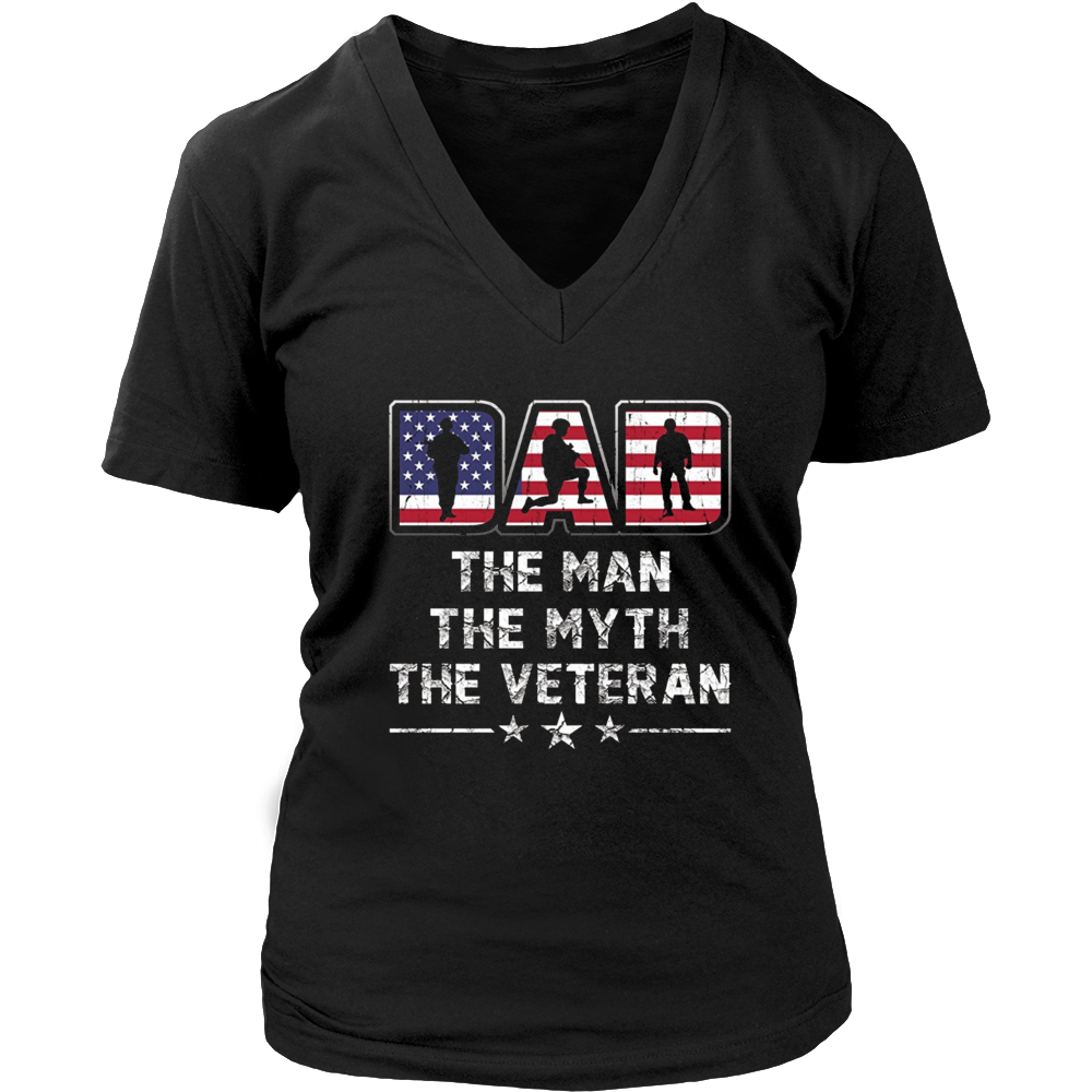 Mens Funny Gifts for Veterans day t-shirt Dad the man the veteran