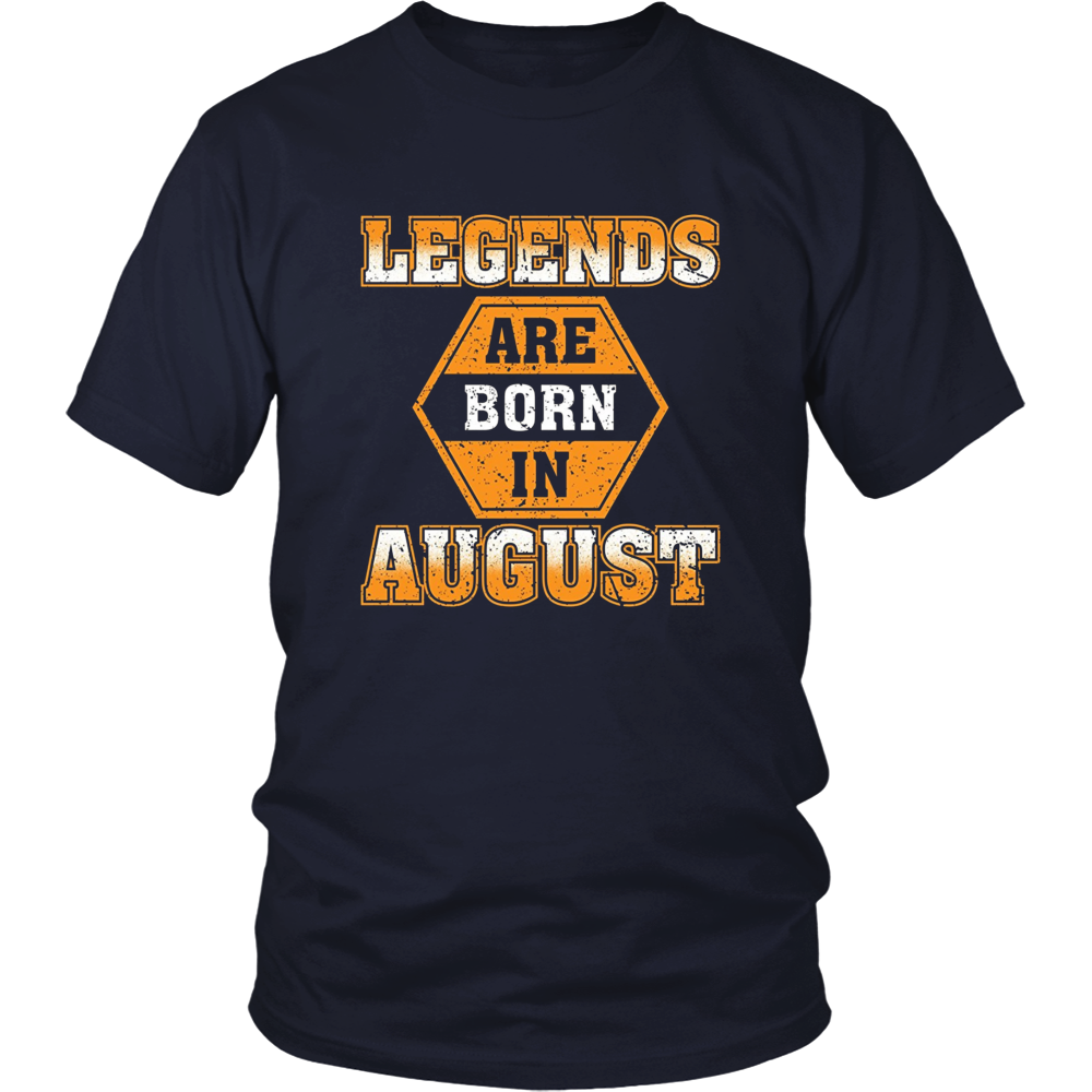 August Birthday T-shirt Legends Are Born In August