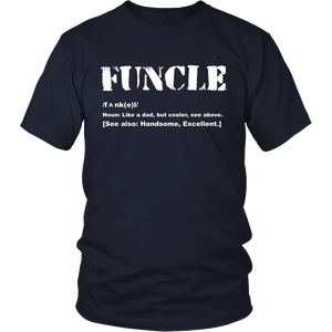 Mens Funcle T Shirt Like A Dad Only Cooler | Fun Uncle T Shirt
