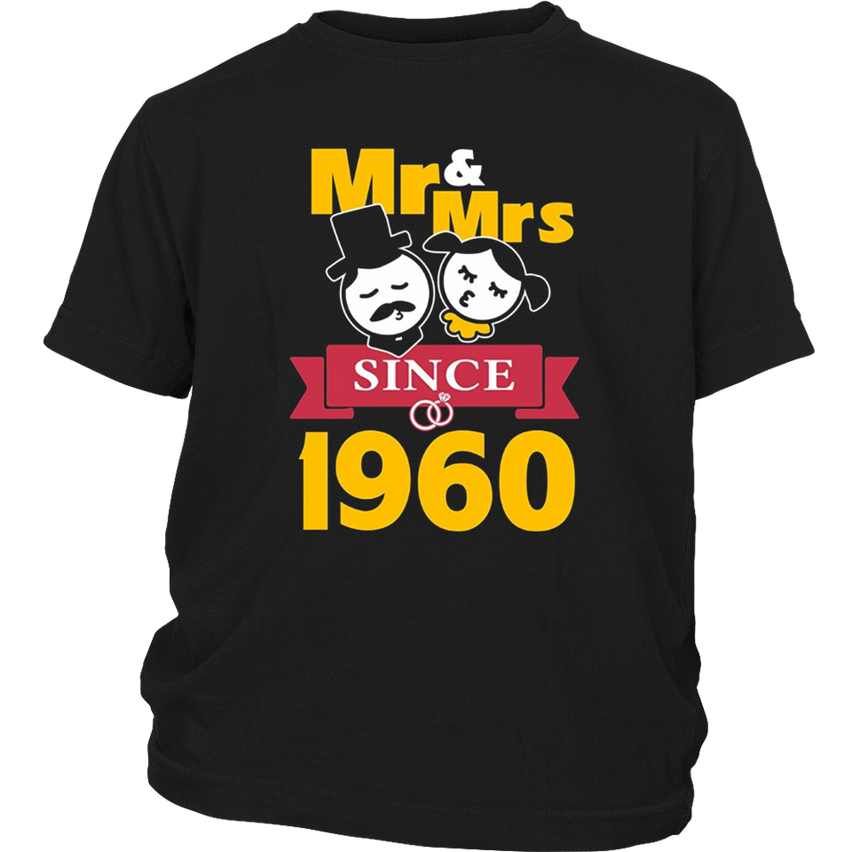 57th Wedding Anniversary T-Shirt Mr & Mrs Since 1960 Gift