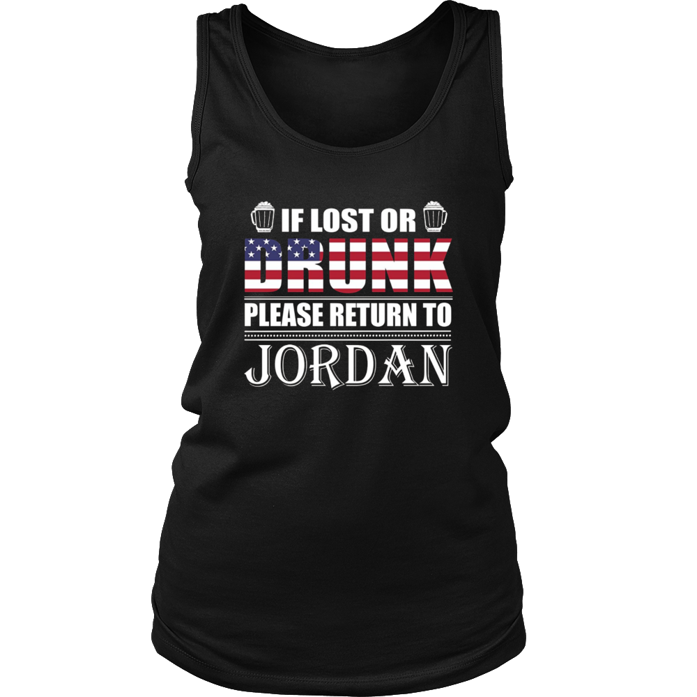 If Lost Or Drunk Please Return To Jordan T-Shirt