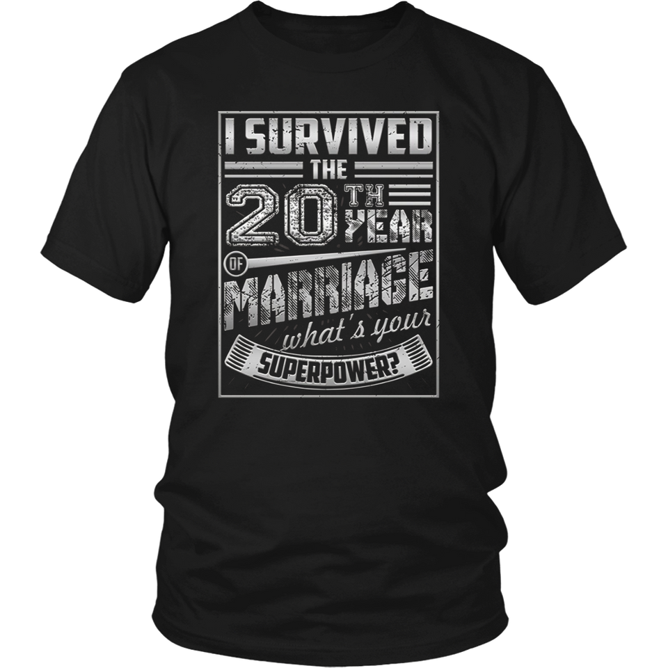 20th Wedding Anniversary I Survived What's Yours Superpower