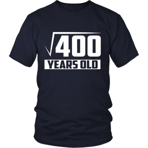 20 Years Old Square Root - Funny 20th Birthday Gift T-Shirt