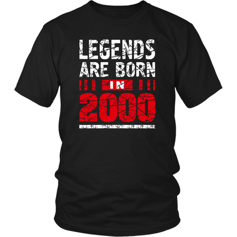 Legends Are Born In T-Shirts