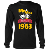 54th Wedding Anniversary T-Shirt Mr & Mrs Since 1963 Gift