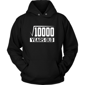 100 Years Old Square Root Funny 100th Birthday Gift T-Shirt