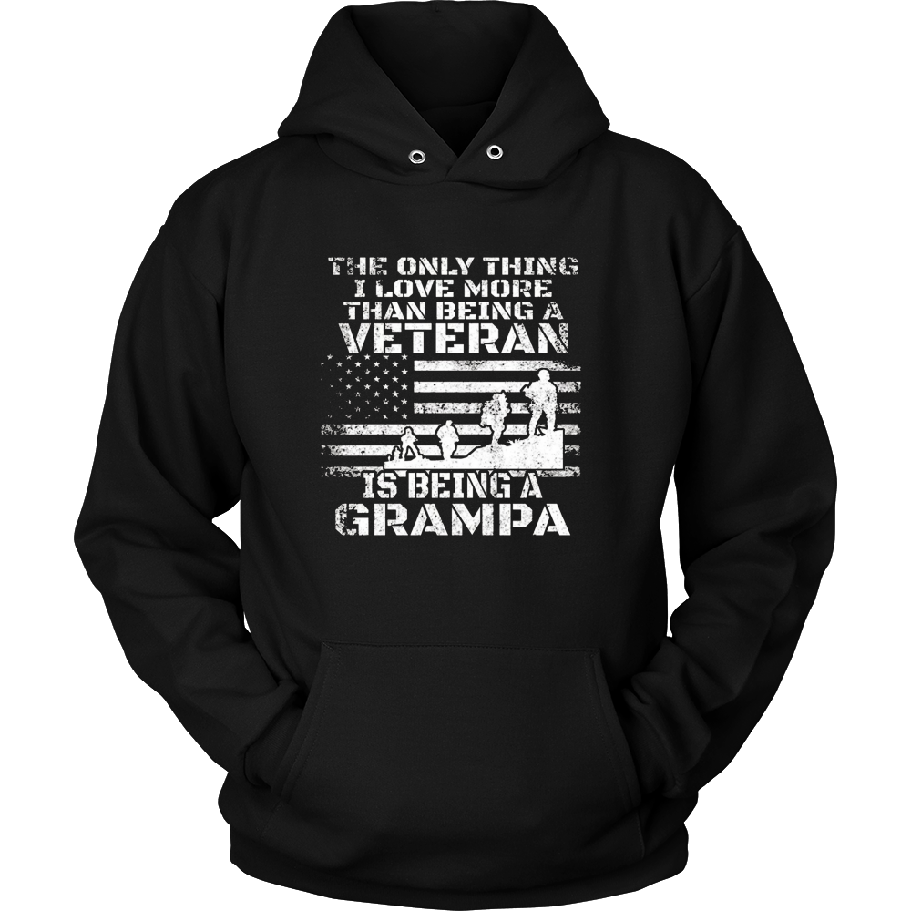 Mens Patriotic Veteran Loves Being a Grandpa