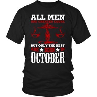 Funny Libra T-Shirt The Best Are Born In October