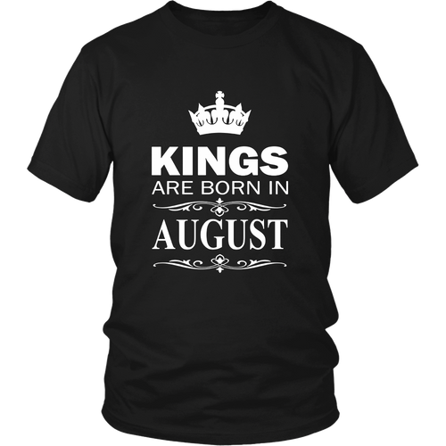 Mens Kings Are Born In August T-Shirt