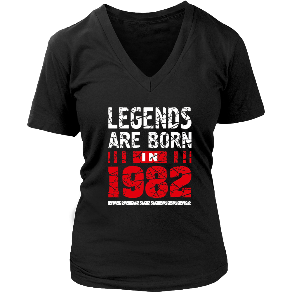 35th Year Old Man Shirt Gift Legends Are born in 1982 Tee