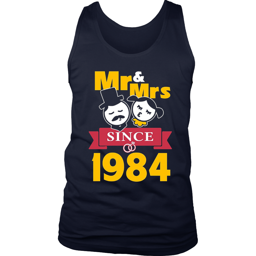 33th Wedding Anniversary T-Shirt Mr & Mrs Since 1984 Gift