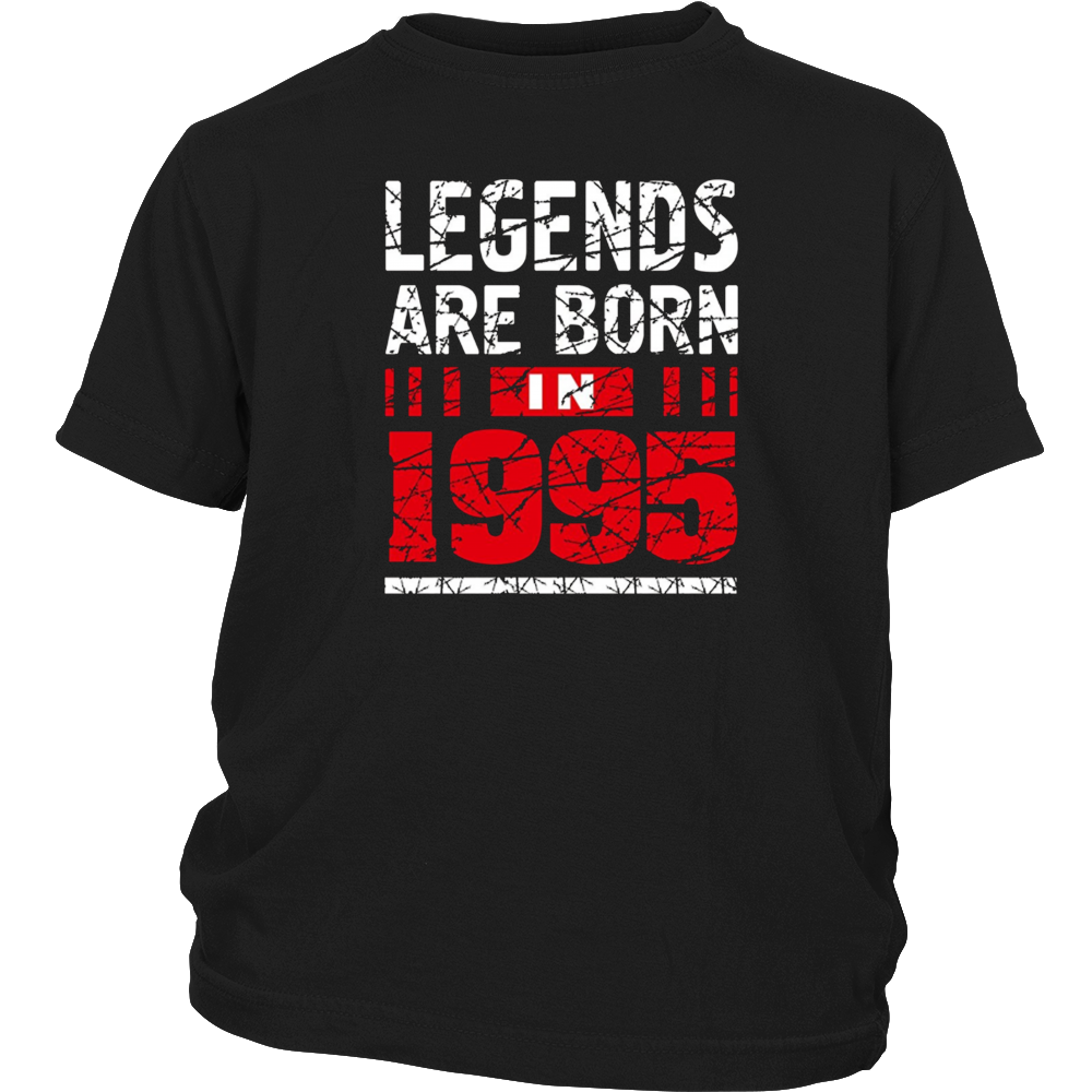 22nd Birthday T-Shirt Gift Legends Are born in 1995 Tee Cool