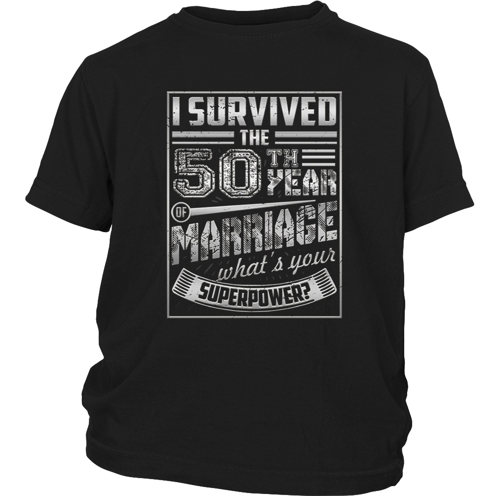 50th Wedding Anniversary I Survived What's Yours Superpower