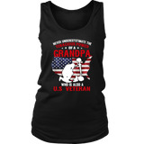 Never Underestimate Power Of A Grandpa U.S. Veteran T-Shirt