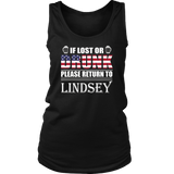 If Lost Or Drunk Please Return To Lindsey T-Shirt