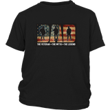 Mens Dad The Veteran T-shirt Best Gift For Father's Day
