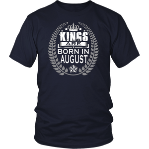 Men's Kings are born in August Tshirt Birthday gift shirt