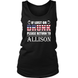 If Lost Or Drunk Please Return To Allison Shirt
