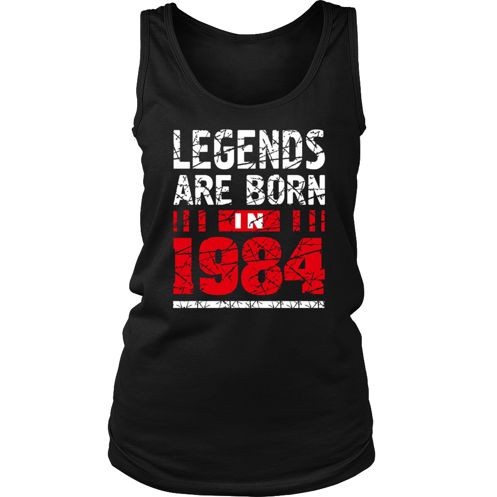 33th Year Old Man Shirt Gift Legends Are born in 1984 Tee