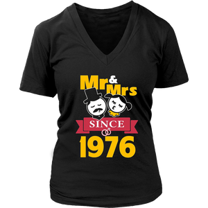 41th Wedding Anniversary T-Shirt Mr & Mrs Since 1976 Gift