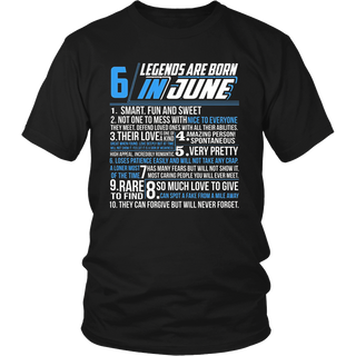 Legends are born in June T-Shirt gemini Pride