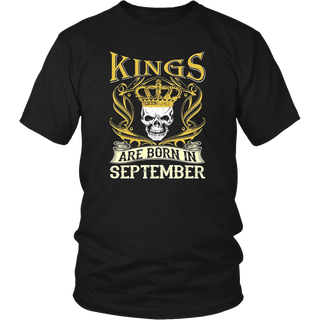 Kings Are Born In September Birth Month T-shirt