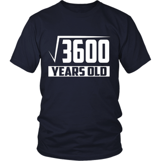 60 Years Old Square Root - Funny 60th Birthday Gift T-Shirt
