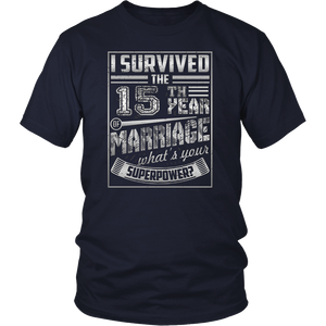 15th Wedding Anniversary I Survived What's Yours Superpower