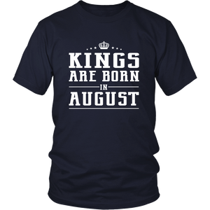 Mens Kings Are Born In August Shirt