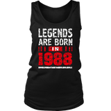 29th Year Old Man Shirt Gift Legends Are born in 1988 Tee