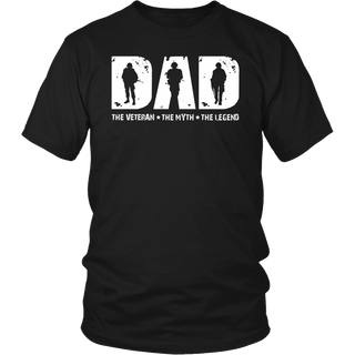 Veteran DAD The Man The Myth The Legend T-Shirt