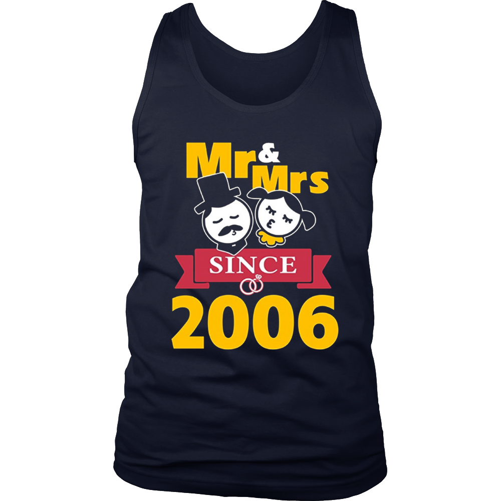 11th Wedding Anniversary T-Shirt Mr & Mrs Since 2006 Gift