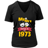 44th Wedding Anniversary T-Shirt Mr & Mrs Since 1973 Gift