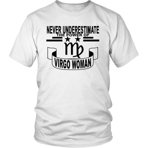 Never Underestimate The Power Of Virgo Woman T-Shirt