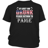 If Lost Or Drunk Please Return To Paige T-Shirt