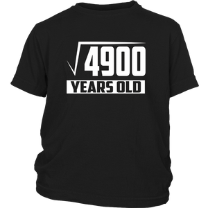 70 Years Old Square Root - Funny 70th Birthday Gift T-Shirt