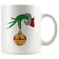 Be Kind Grinch Hand Holding Kindness Christmas Gift Mugs